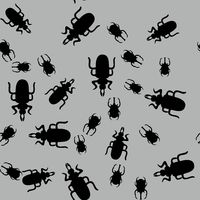 Beetle insect seamless pattern 662