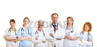Gruppe von Ärzten und Pflegepersonal