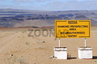 Diamantenschürfgebiet, Südafrika