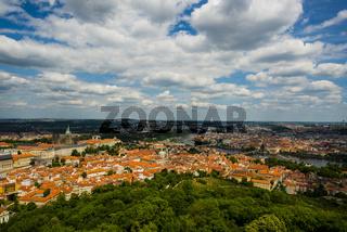 Panorama vom Laurenziberg, Prag, Böhmen, Tschechien, Europa
