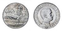 One Lira Silver Coin 1912 Quadriga Veloce Vittorio Emanuele III Kingdom of Italy