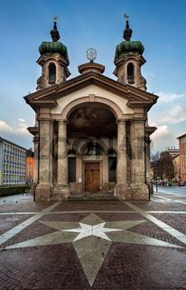 Johanneskirche in Innsbruck, Tirol, Austria