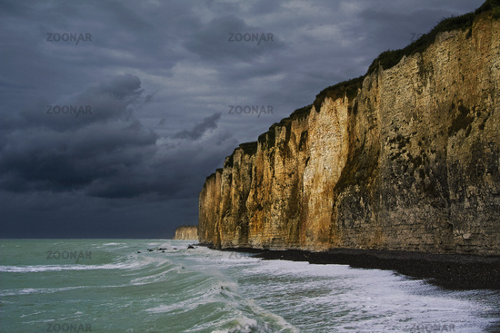Gewitter, Steilkueste Normandie, France
