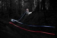 Mountainbike Light Art