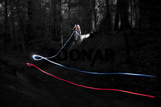 Mountainbike Light Art