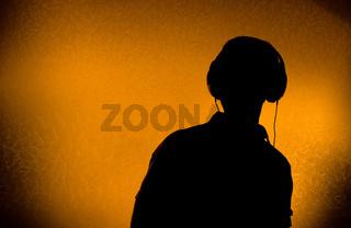DJ with earphones