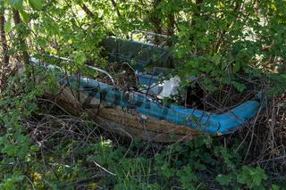 Altes verlassenes Boot