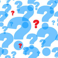 Abstract background with question marks