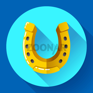 Vector Golden Horseshoe icon. Flat design style.