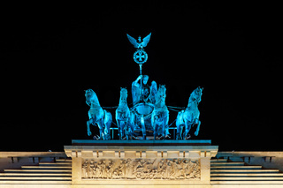 Festival of Lights 2010 - Quadriga auf dem Brandenburger Tor