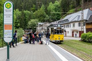 Kirnitzschtalbahn in der Sächsischen Schweiz