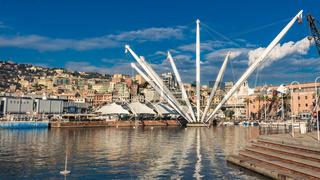 The Bigo in Port of Genoa, Italy