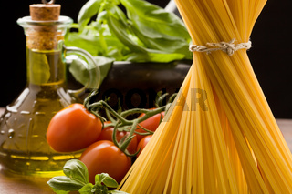 Ingredients for Italian pasta
