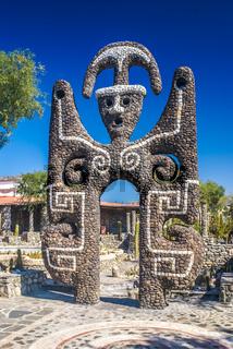 Large stone figure