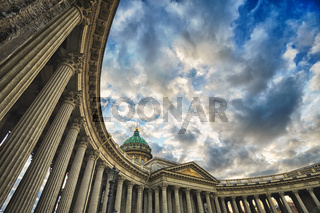 Column gallery of Kazan Cathedral, St. Petersburg, Russia