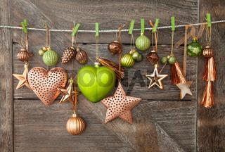Rustikaler Hintergrund zu Weihnachten