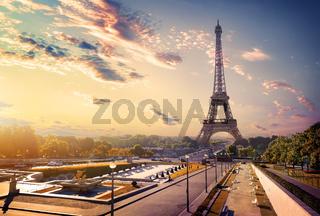 Trocadero and Eiffel Tower