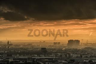 Vienna citiscape at sunset