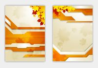 Bright orange autumn leaves flyer template