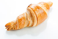 Croissant on white background. Top view.