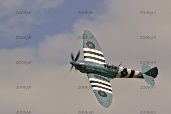 UK Duxford Supermarine Spitfire D Day Markings
