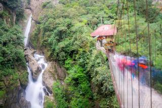 Pailon del Diablo waterfall in Banos, Ecuador