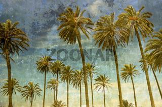Palmen im Wind mit Textur