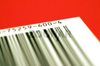 Strichcode in Rot