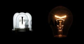 Leuchtmittel alt und neu