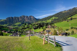 the Village of Inneralpbach in Alpbach Valley,Austria