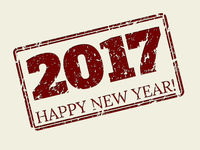 Happy new year 2017 stamper design