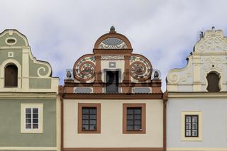 Giebel in Horšovský Týn (deutsch Bischofteinitz), Tschechien