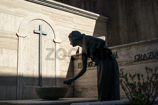 Friedhof in Dorgali, Sardinien