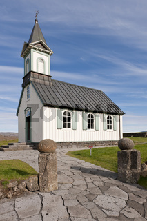 Island, Kirche im Þingvellir-Nationalpark