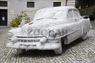 Cadillac marble sculpture