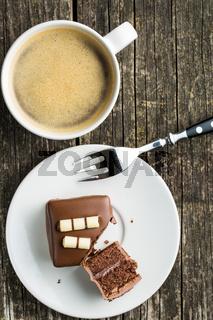 Sweet chocolate dessert.