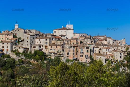 Town Tourrettes-sur-Loup in Provence France