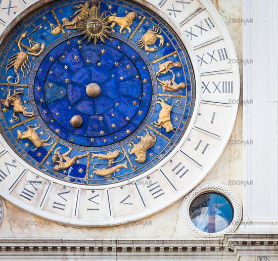 Venice, Italy - St Mark's Clocktower detail
