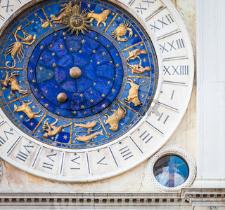 Venice, Italy - St Mark's Clocktower detail