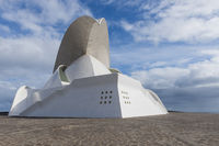 Front and side face of Concert Hall of Calatrava