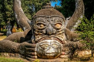 Buddist sculpture in Buddha Park