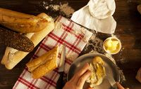 Fresh Bread, Baguettes, Cheese and Irish Butter
