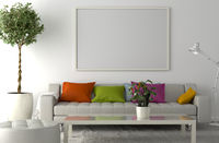 Blank Picture frame on the wall. Place your creation in this empty space.