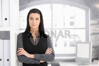 Attractive businesswoman in office