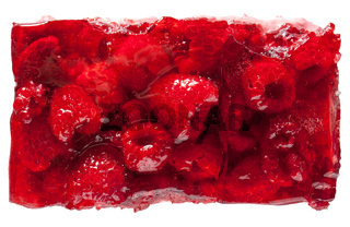 Raspberry jelly cake