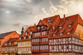 Stadtansichten von Quedlinburg Marktplatz