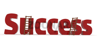 3d concept with the word Success