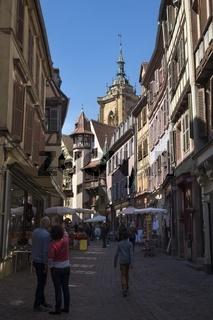 Fußgängerzone in der Rue des Marchands