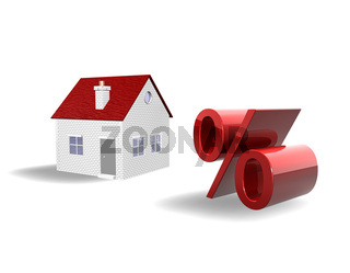 Real Estate Falling Prices 3d