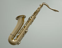 Saxophone - 3d illustration